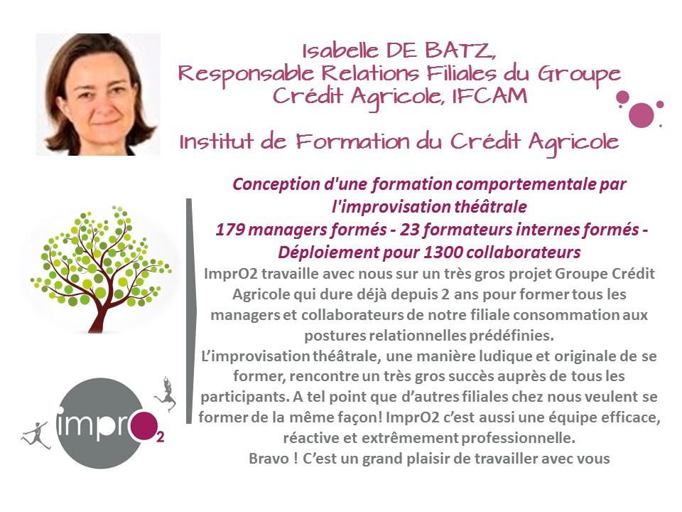 Témoignage Client ImprO2 formation Crédit Agricole